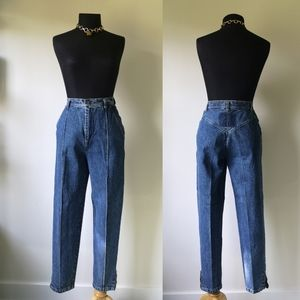 Vintage 90's high waist zipper ankle tapered jeans